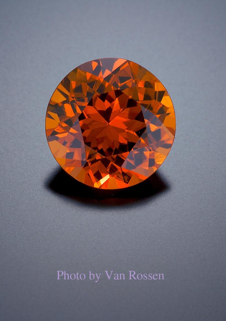 Gemstone Photography of a Garnet
