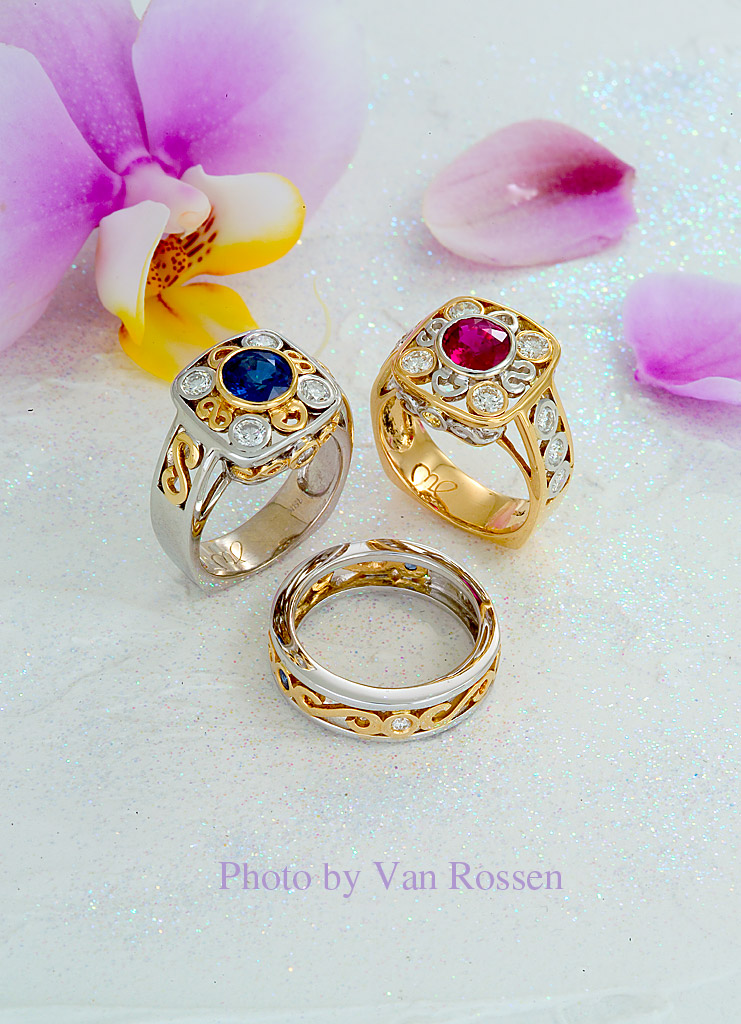 Photography of Rings with an Orchid